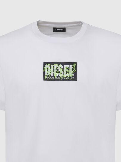 Diesel - T-DIEGOS-N34, White - T-Shirts - Image 3