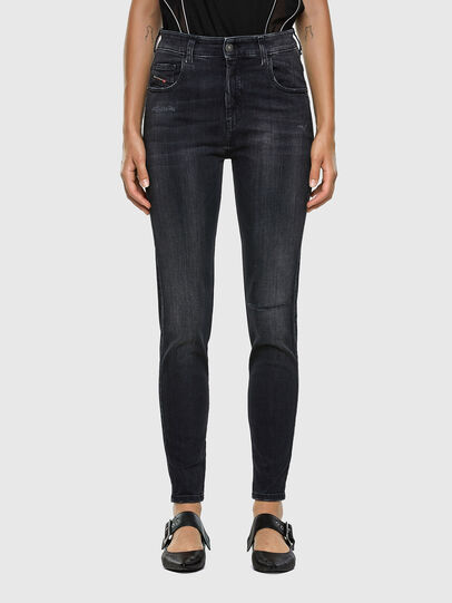 Diesel - Slandy High 069RL, Black/Dark grey - Jeans - Image 1