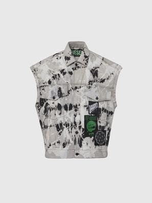 D-RAFFO, White/Black - Denim Jackets