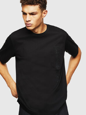 T-JUST-POCKET-J1, Black - T-Shirts