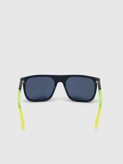 Diesel - DL0299, Blue/Yellow - Sunglasses - Image 4