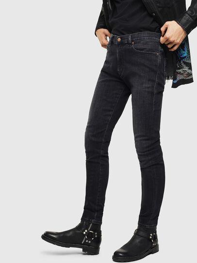 Diesel - D-Amny 0096P, Black/Dark grey - Jeans - Image 4