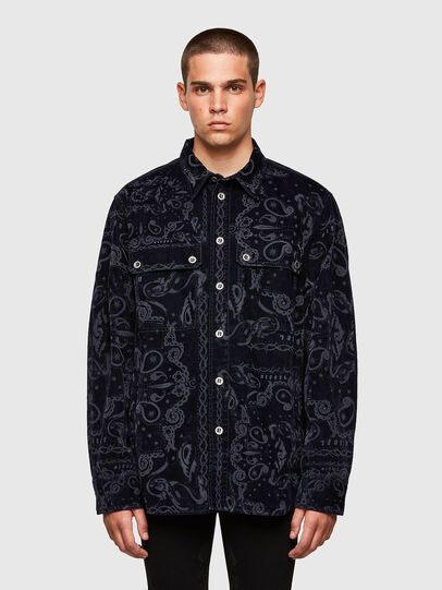 Diesel - D-JESSY-SP1, Dark Blue - Denim Shirts - Image 1