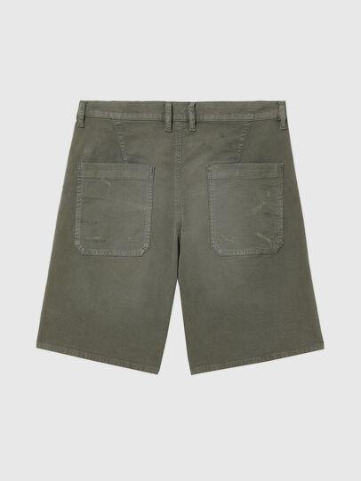 Diesel - D-AZERR-SHORT JOGGJEANS, Military Green - Shorts - Image 2