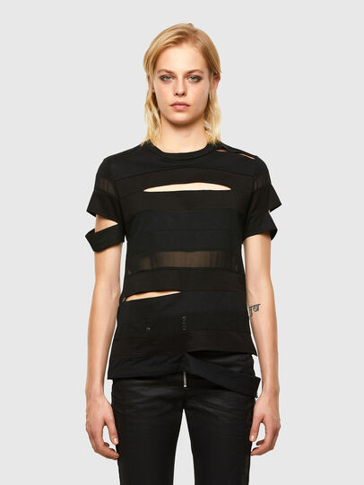 Diesel - T-SLICE, Black - Tops - Image 1