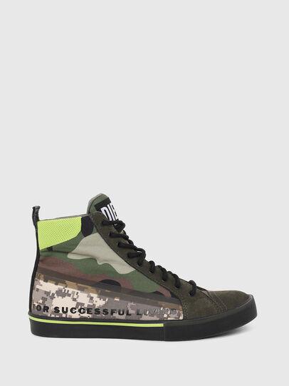 Diesel - S-DVELOWS MID, Green Camouflage - Sneakers - Image 1