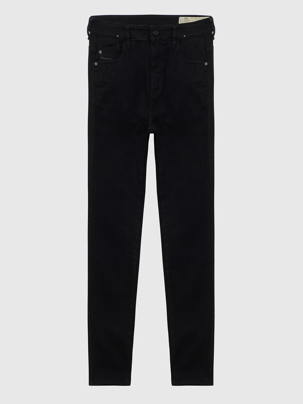 Slandy High A69EF, Black/Dark grey - Jeans