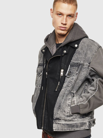 Diesel - D-LOSTY, Black - Denim Jackets - Image 6