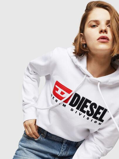 Diesel - F-GIR-HOOD-DIVISION-, White - Sweaters - Image 3
