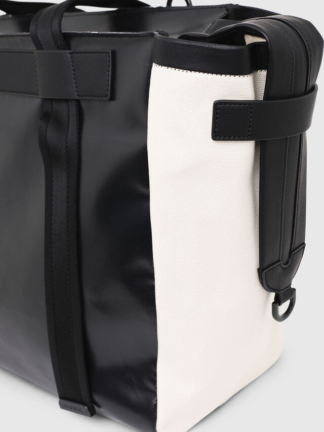 Diesel - F-CAORLY SHOPPER L, Black/White - Shopping and Shoulder Bags - Image 5