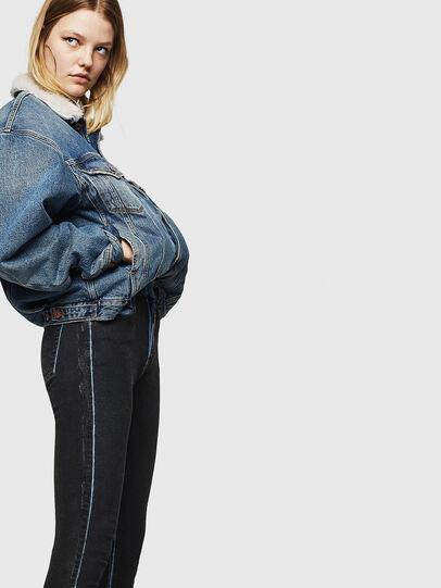 Diesel - Slandy High 0094B, Dark Blue - Jeans - Image 6