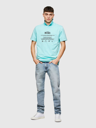Diesel - T-JUST-E9, Light Blue - T-Shirts - Image 4