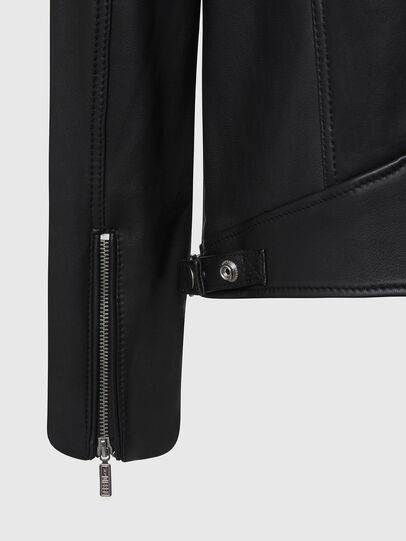 Diesel - L-CASE-KA, Black - Leather jackets - Image 5