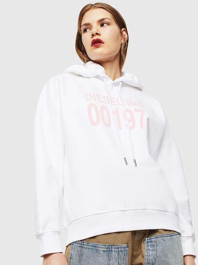 Diesel - F-ANG-HOOD-J1, White - Sweaters - Image 1