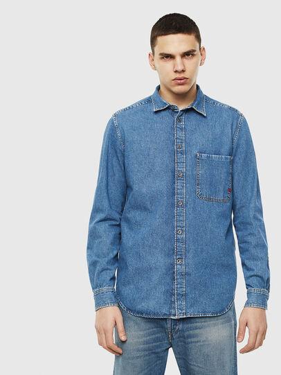 Diesel - D-BER-P, Blue Jeans - Denim Shirts - Image 1