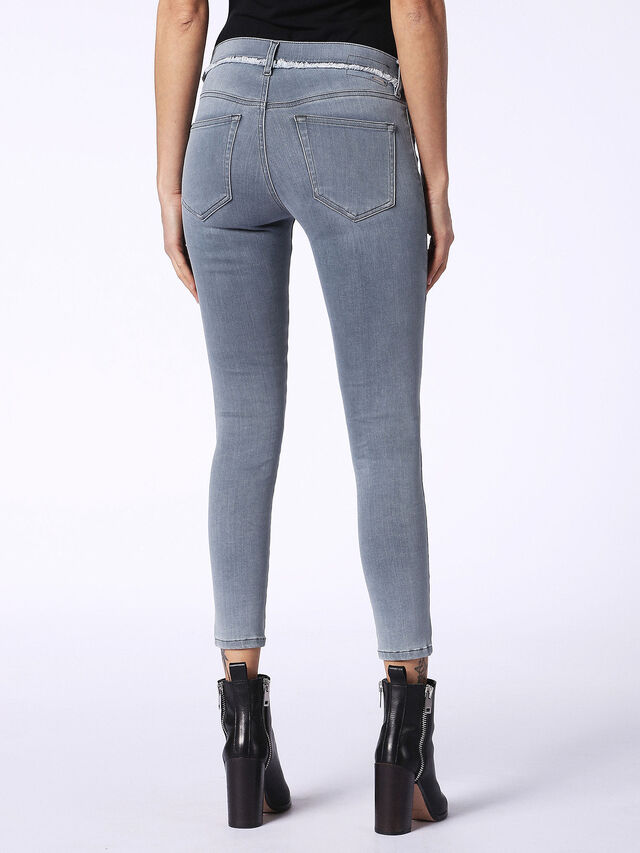 SLANDY-ANKLE-W 084QB, Grey Jeans