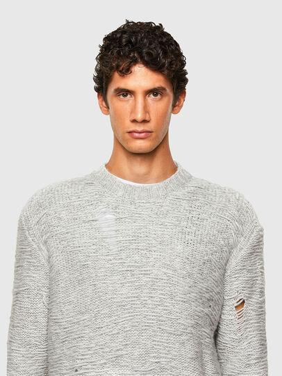 Diesel - K-JOSH, Light Grey - Knitwear - Image 5