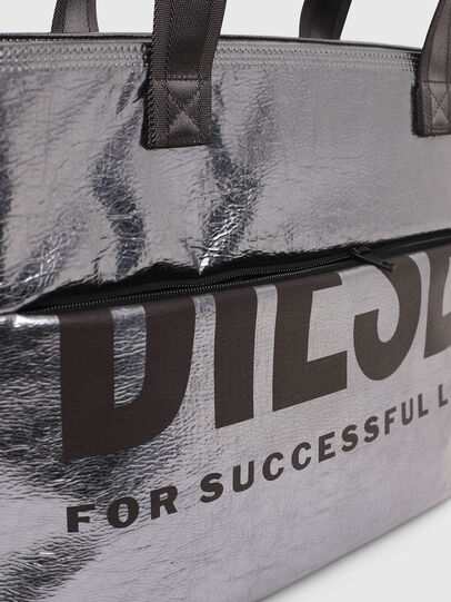 Diesel - F-BOLD SHOPPER III, Silver - Shopping and Shoulder Bags - Image 5