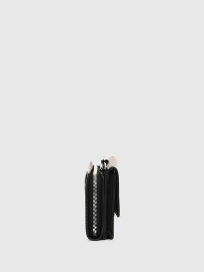 Diesel - DUPLET LCLT, Black - Zip-Round Wallets - Image 3