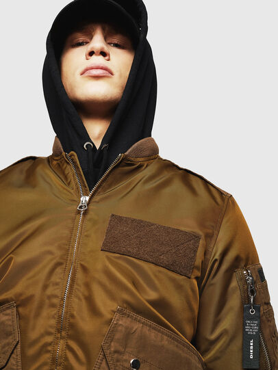 Diesel - W-SLOTKIN-A, Green/Brown - Winter Jackets - Image 6