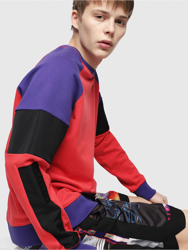Diesel - S-GIM-BLOCK, Red/Black - Sweaters - Image 3