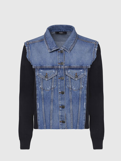 Diesel - M-ROSE, Blue/Black - Jackets - Image 1