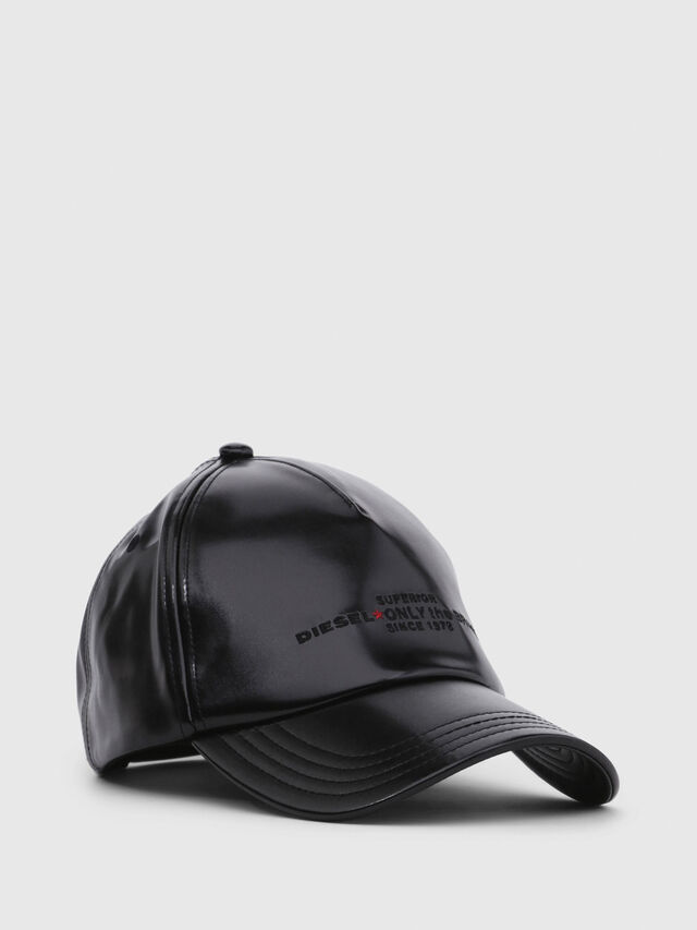 Diesel - C-RAMAX, Black Leather - Caps - Image 1