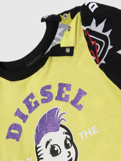 Diesel - TULLAB, Black/Yellow - T-shirts and Tops - Image 2