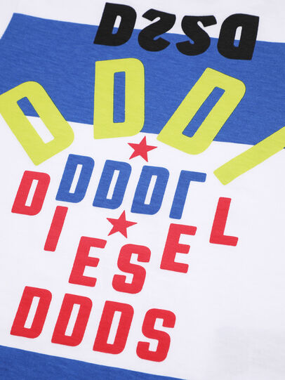 Diesel - TOLIB, White/Blue - T-shirts and Tops - Image 3