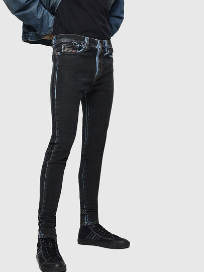 Diesel - D-Istort 0094B, Dark Blue - Jeans - Image 5