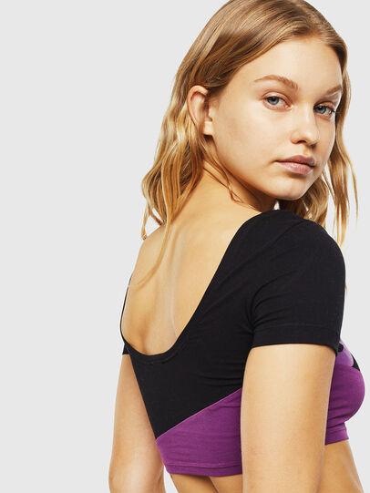 Diesel - UFTEE-CROPSV, Black/Violet - T-Shirts - Image 4