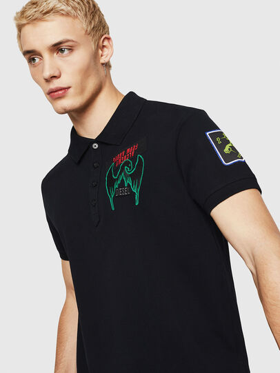 Diesel - T-POLO-PATCHES, Black - Polos - Image 3