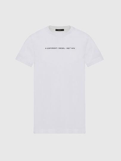 Diesel - T-SILY-COPY, White - T-Shirts - Image 1