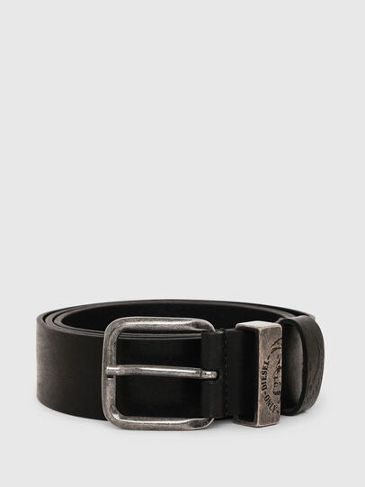 Diesel - B-FRAG, Black Leather - Belts - Image 1