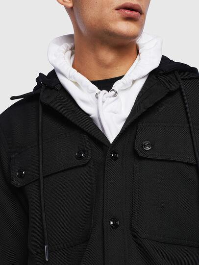 Diesel - J-JESSY-HOOD, Black - Jackets - Image 5