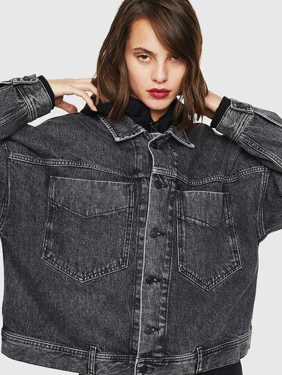 Diesel - DE-JALA, Black/Dark grey - Denim Jackets - Image 1