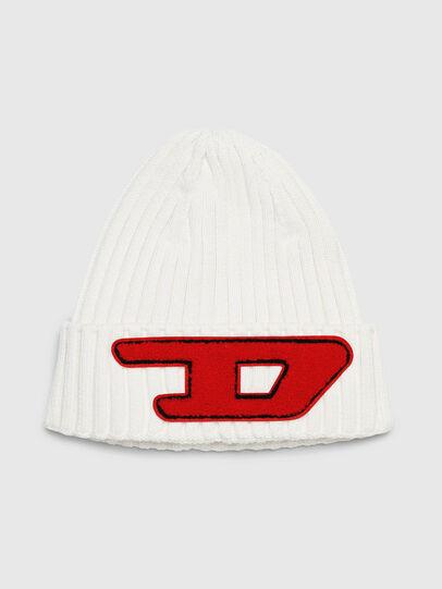 Diesel - K-CODER-D, White - Knit caps - Image 1