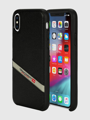 DIESEL LEATHER CO-MOLD CASE FOR IPHONE XS & IPHONE X, Black - Cases