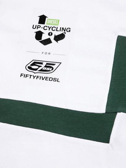 Diesel - D-FRANKENSTEIN 2.1, White/Green - T-Shirts - Image 4
