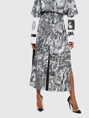 O-MOYA-B, Black/White - Skirts