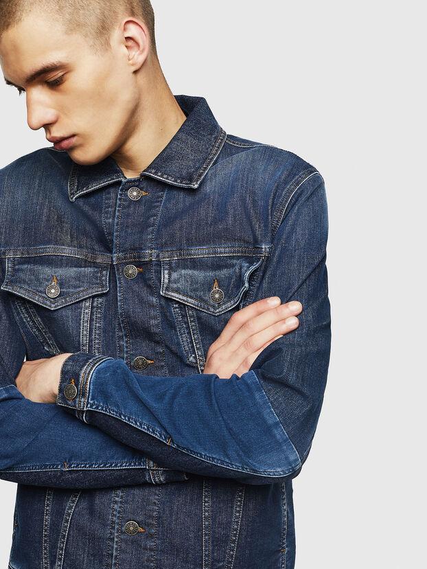 D-NHILL-SP JOGGJEANS, Medium blue - Denim Jackets