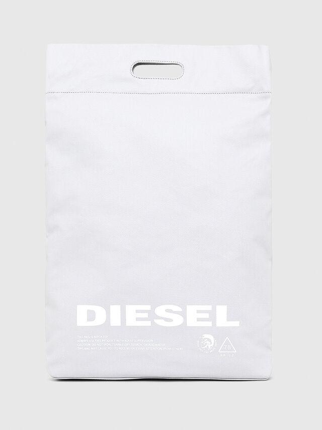 Diesel - F-LITT SHOPPER N/S, White - Shopping and Shoulder Bags - Image 1