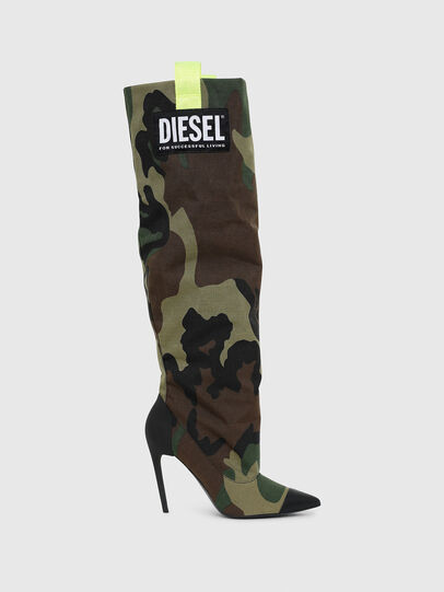 Diesel - D-SLANTY HOTK, Green Camouflage - Boots - Image 1
