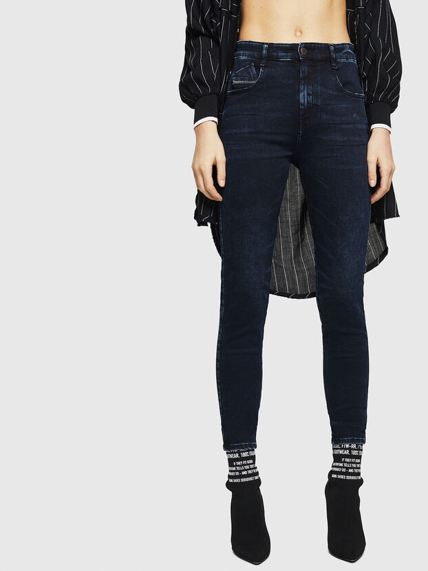 Slandy High 082AU, Dark Blue - Jeans
