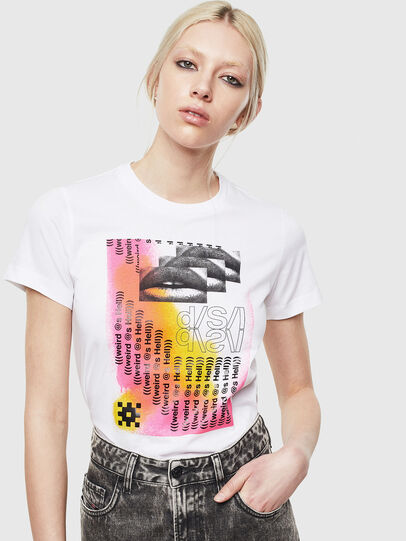 Diesel - T-SILY-S5, White - T-Shirts - Image 4
