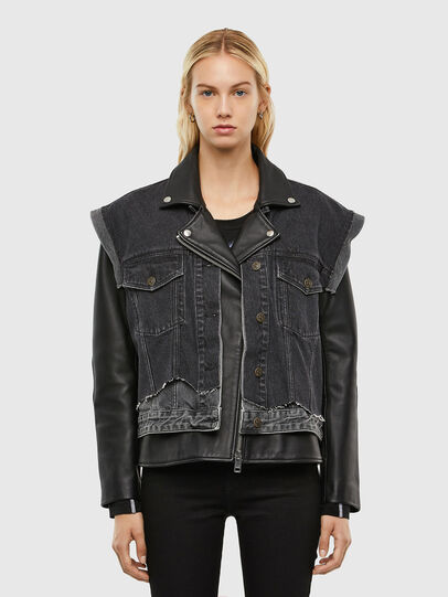 Diesel - L-KELLY, Black - Leather jackets - Image 1