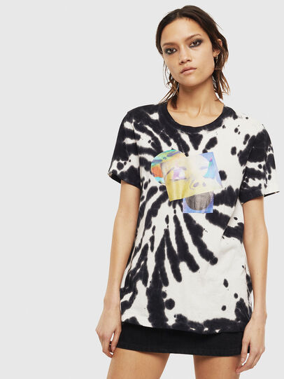 Diesel - T-SILY-S4, Black/White - T-Shirts - Image 1