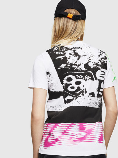 Diesel - T-SILY-WU, White - T-Shirts - Image 2