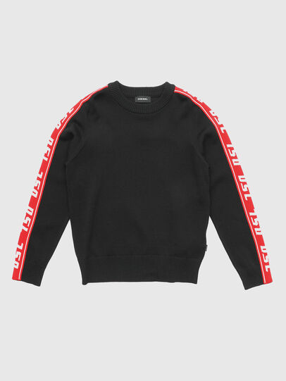Diesel - KTRACKBY, Black/Red - Knitwear - Image 1