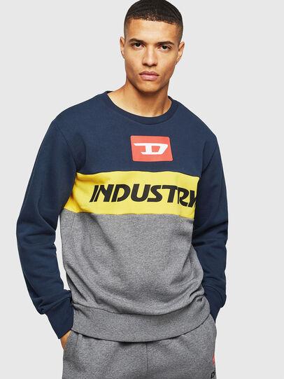 Diesel - UMLT-WILLY, Blue/Grey - Sweaters - Image 1